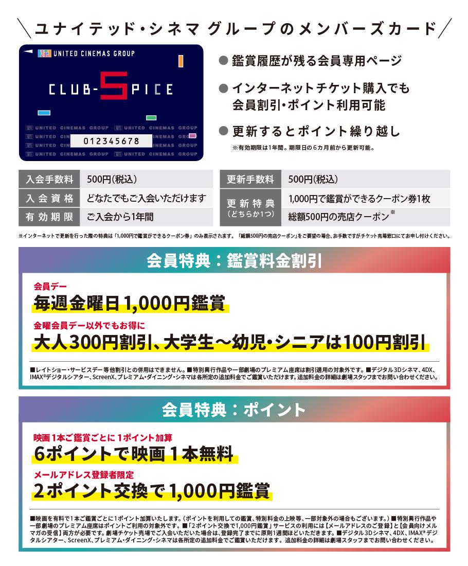 CLUB-SPICEメンバーズカード
